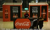 Norway 2017: Coca-Cola Zero Sugar OOH prank at Oslo Station-JCDecaux