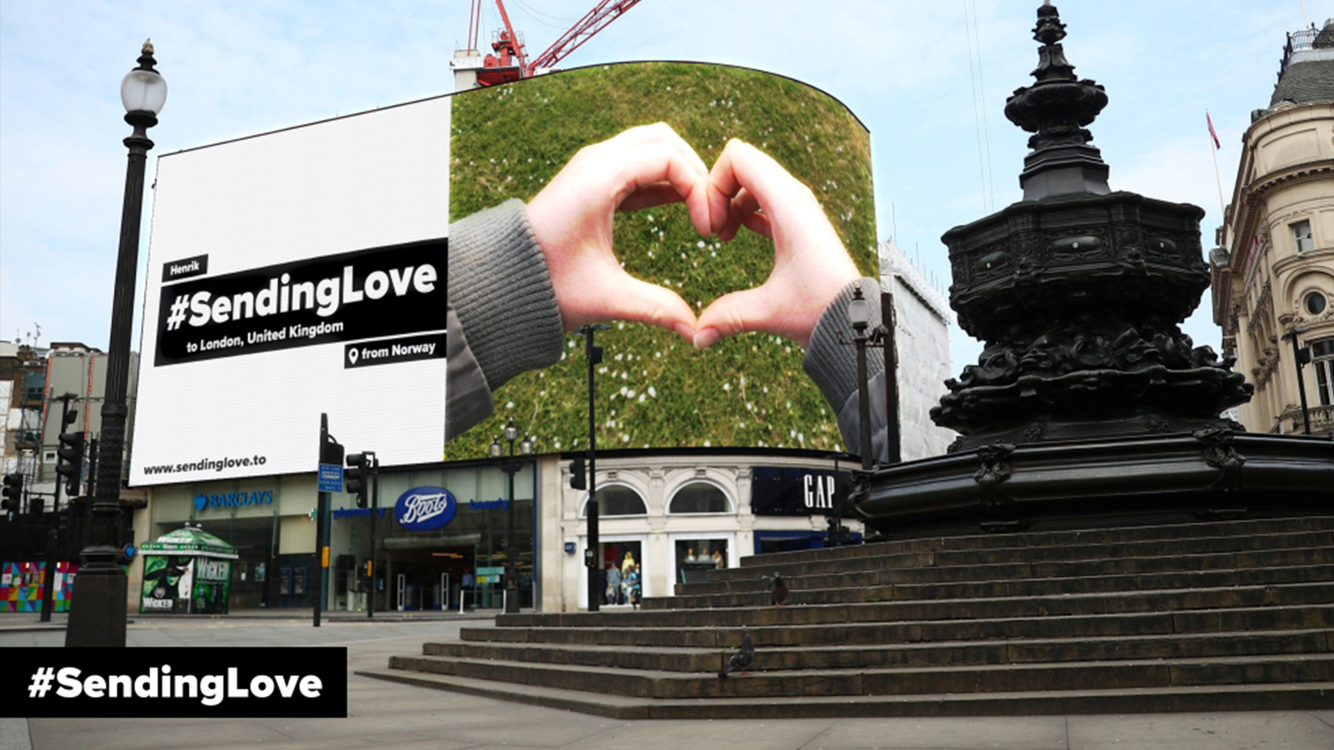Biggest ever User-Generated Digital OOH Campaign 'Sending Love' wins at Drum Awards for Talon, Grand Visual, Plexus and WOO