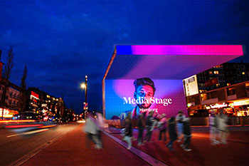 Premium large format media owner blowUP media expands its DOOH network with the launch of the Media Stage in Hamburg