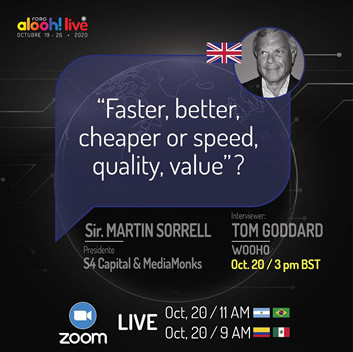 WOO President Tom Goddard to interview Sir Martin Sorrell at FOROalooh!live