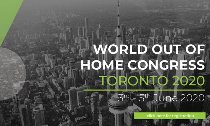 World Out of Home Organization Congress Toronto – Just Two Weeks to take advantage of our Earlybird Rates!